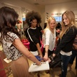 Ladies and Leah Karp with purses at the InStyle for Nine West event March 2014