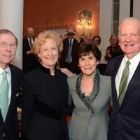 John Lollar, from left, Susan Baker, Klinka Lollar and James A. Baker III at the Communities in Schools dinner March 2014