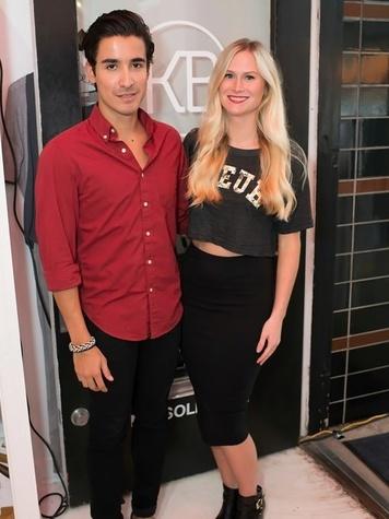 4 Gabe Rafael and Ricki Lee Mercer at the KB Kasuals party September 2014