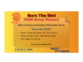 """""""Burn the Bird"""" at Evelyn's Park"""