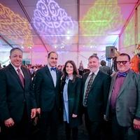 Moe Boughaba, from left, Adbel Elkhadiri, Rudeina Baasiri, Steven Evans and David Klonkowski at the FotoFest opening party March 2014