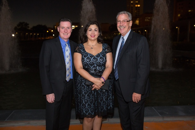 1 Brendan and Mindy Halford, from left, with Ed Smith at the Hermann Park Centennial Gardens inaugural dinner October 2014