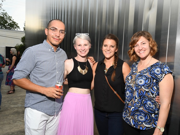 Contemporary Arts Museum YPs, 8/16, Marcos Hernandez, Ara Griffith, Anna Ahlstrom, Aislyn Barclay