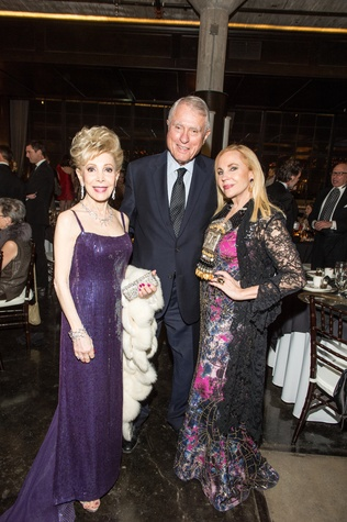 Margaret Alkek Williams, from left, Jim Daniel and Carolyn Farb at the Stages Repertory Theatre Gala April 2015 FULTON