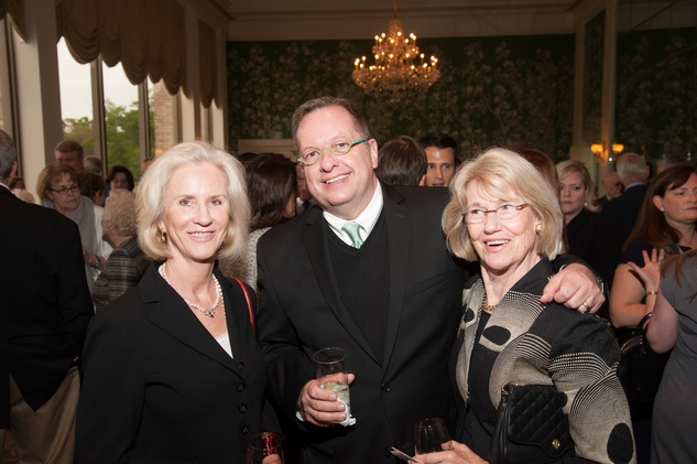 Kim Renteria, from left, Gary Smith and Roni McMurtrey at the Jung Center dinner April 2014