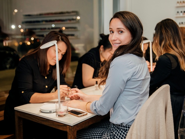 Guests celebrate grand opening of Houston\'s first non-toxic nail ...