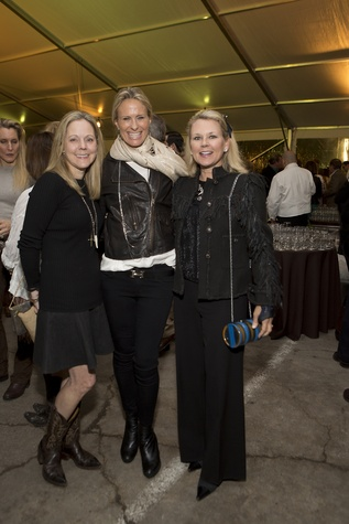Julie Moorehead, from left, Shana Wood and Mindy Hildebrand  at the Memorial Park Conservancy benefit February 2015