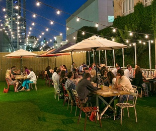 Arro Austin restaurant West Sixth patio yard outdoor