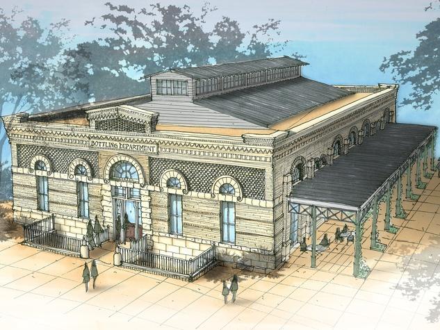 Pearl Brewery food hall exterior rendering