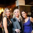 Vanessa Gerth, from left, Lori Geshay and Lina Mctar at Ruggles Black Grand Opening October 2014