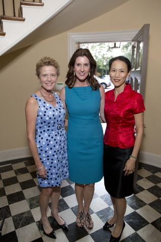 0179 Laura Bellows, from left, Phoebe Tudor and Y. Ping Sun at the Tiger Ball kickoff party September 2014