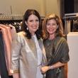Julie Roberts, left, and Jana Giammalva at the Pamella Roland runway show at Elizabeth Anthony November 2014