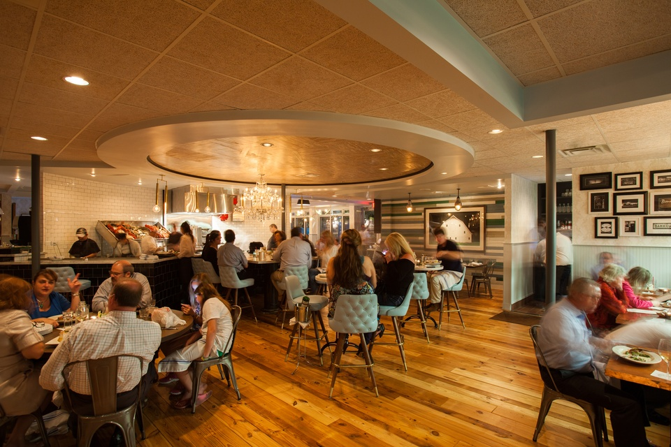 Liberty Kitchen & Oysterette interior with crowd