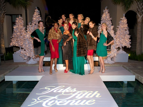 Roemer-Saks Fifth Avenue Party, November 2012, fashion show, models