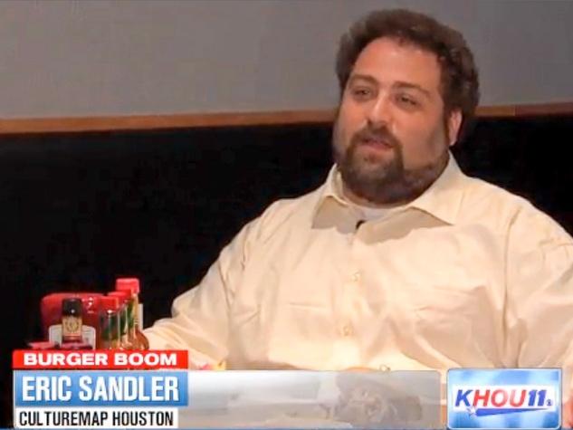 Eric Sandler Burger Boom KHOU August 2013