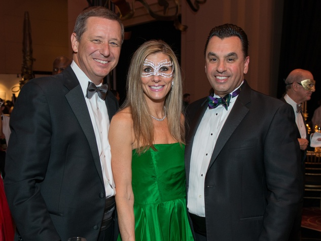 6 David Wuthrich, Gina and Dr. Devinder Bhatia at the Houston Ballet Ball February 2015