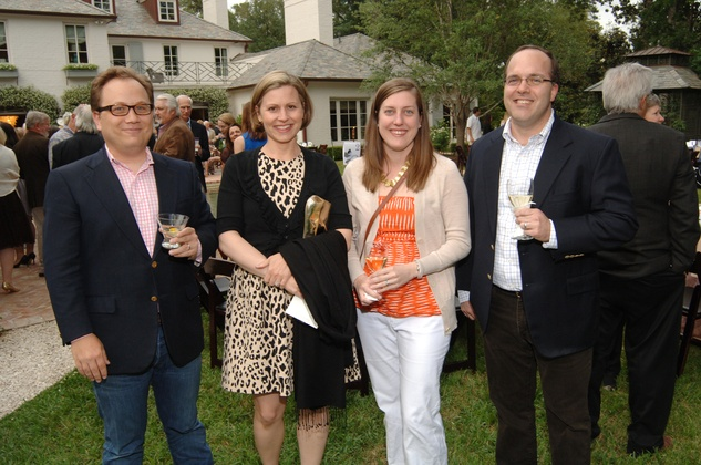 Elliot Turner, from left, Christy Cardon, Kelly Turner and Darryl Anderson at the Katy Prairie Conservancy fundraiser May 2014