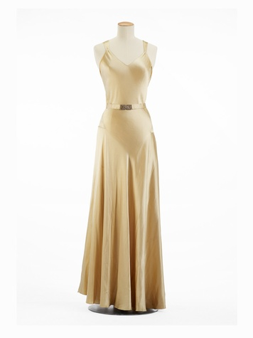 Paris Haute Couture exhibit at the Hotel de Ville June 2013 Madeleine Vionnet 1935 - Full Length