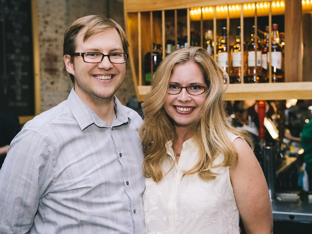 Justin and Amanda Morton at the Houston Symphony Young Professionals Backstage kick-off party
