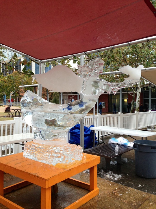 12, Discovery Green, ice carving contest, January 2013, Steve Brice, second place