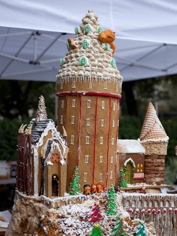 2 Annual AIA Gingerbread build-off December 2013 2nd Runner Up Gensler -Hogwarts Christmas