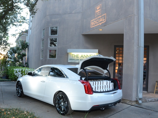 26 Express Yourself car at the CultureMap Social at Gremillion and Co. Fine Art March 2015