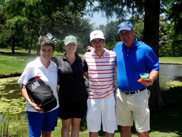 Kathy Hewitt, Jennifer Shindler, Carmen DiPenti and Christopher Miller , promise house golf