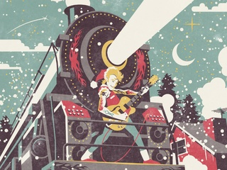 Brian Setzer Orchestra - Christmas Rocks Exravaganza tour poster CROPPED - December 2014