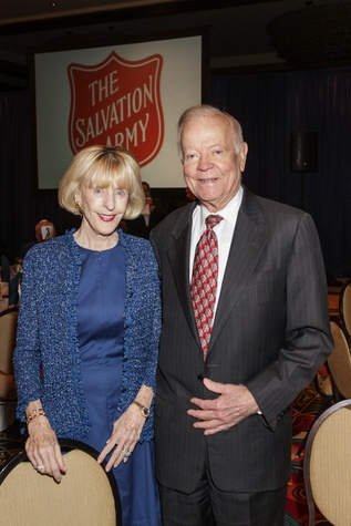 Dee and Pat Osborne at the Salvation Army annual luncheon November 2014