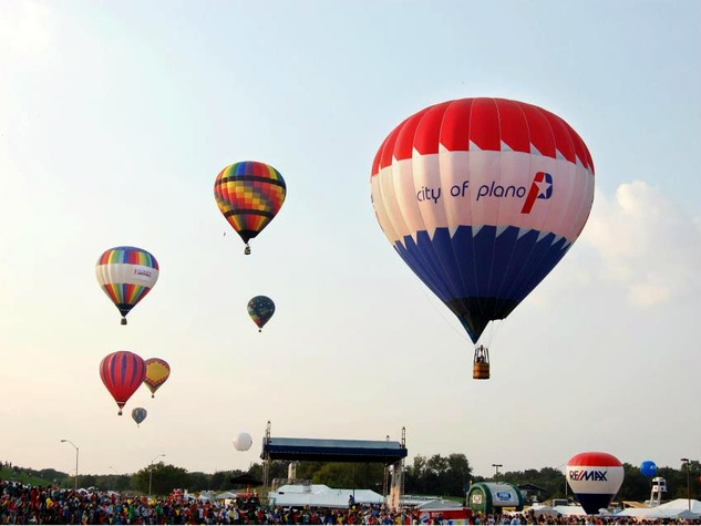 City of Plano hot air balloon