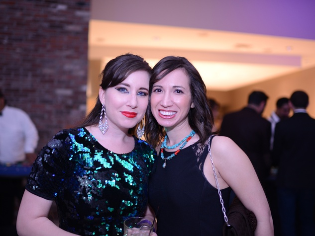 1828 Adriel Resh, left, and Andrea Starkschall at the Jewish Federation Young Adult Casino Night February 2014