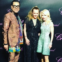 Ceron, Chopard co-president Caroline Scheufele, Diane Lokey Farb at Chopard party in Cannes