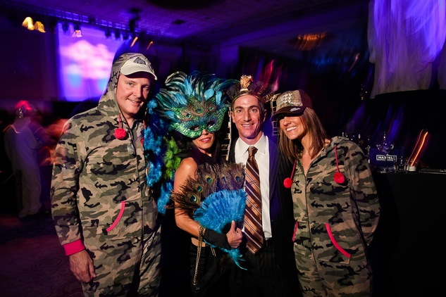Bob Schultz, from left, Erica and Benjy Levit and Lane Schultz at DREAMSCAPE The Orange Show's 32nd Annual Gala November 2013