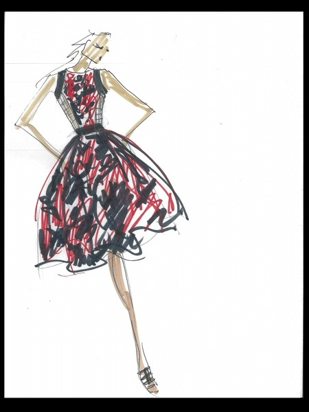 Clifford, Fashion Week, sketches, Carmen Marc Valvo, September 2012
