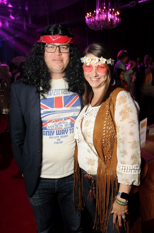 """Tami and Sam Kazdal at the Alley Theatre Ball """"In the Groove"""""""
