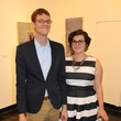 Jason Dibley and Rachel Hewlett at the Lawndale Big Show preview party July 2014