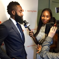 James Harden at Bloomingdale's in New York