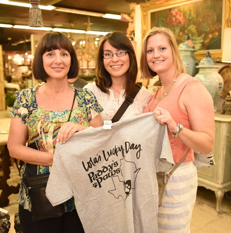 news, Shelby, Barks & Bubbles, Memorial Antiques, July 2015, Susan Shaw, Vanessa Enriques, Courtney Roberts