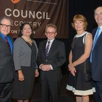 News, Shelby, The Council luncheon, Nov. 2015, David Taylor, Eva Garcia, Paul Williams, Tammy Lester, Howard Lester