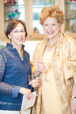 Elizabeth Weingarten, Carol Neuberger at Planned Parenthood Fine Art Auction