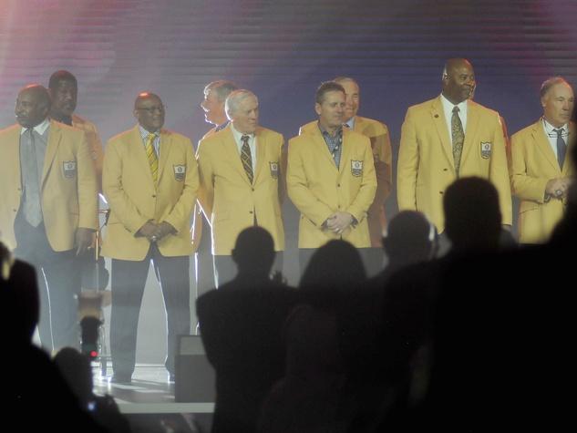 NFL Hall of Fame players at Luminaries Super Bowl Gala