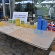 13 The decorations table. at young professionals build Tiny Libraries September 2014