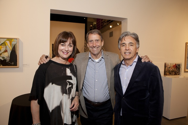 Leigh Smith, from left, John Alexander and Robert McClain at the Glassell School benefit and auction May 2014