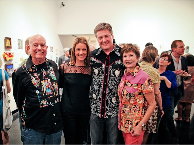 Marks Hinton, from left, Lane and Bob Schultz and Barbara Hinton at the Lawndale Gala and Retablo Silent Auction October 2013