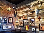 Stars, wooden stripes and Dia de los Muerto&#39;s art at Pistolero&#39;s