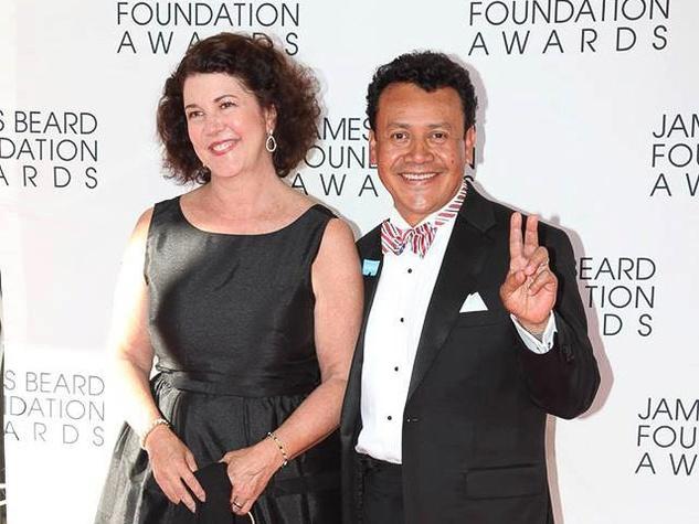Tracy Vaught and Hugo Ortega at James Beard Foundation Awards June 2013