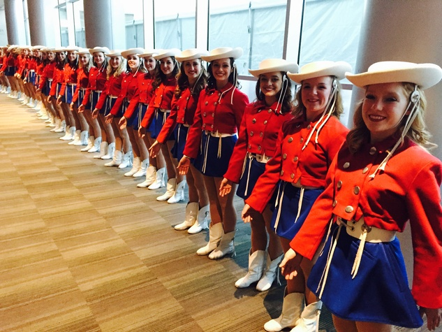 Kilgore Rangerettes at the Texas Medal for the Arts ceremony
