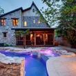1612 Bauerle Ave Austin house backyard pool fire feature