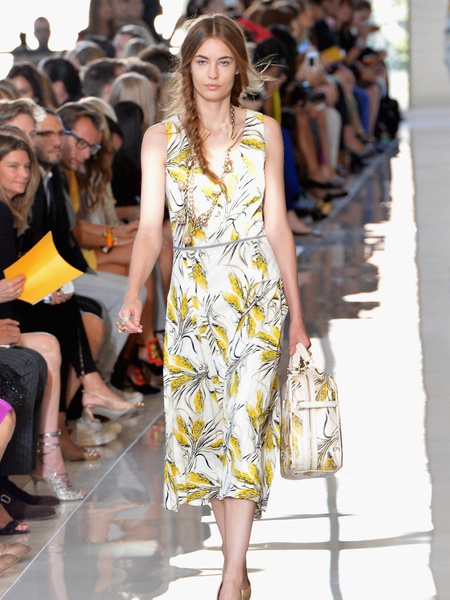 Clifford, Fashion Week spring 2013, Tuesday, Sept. 11, 2012, Tory Burch, floral print dress