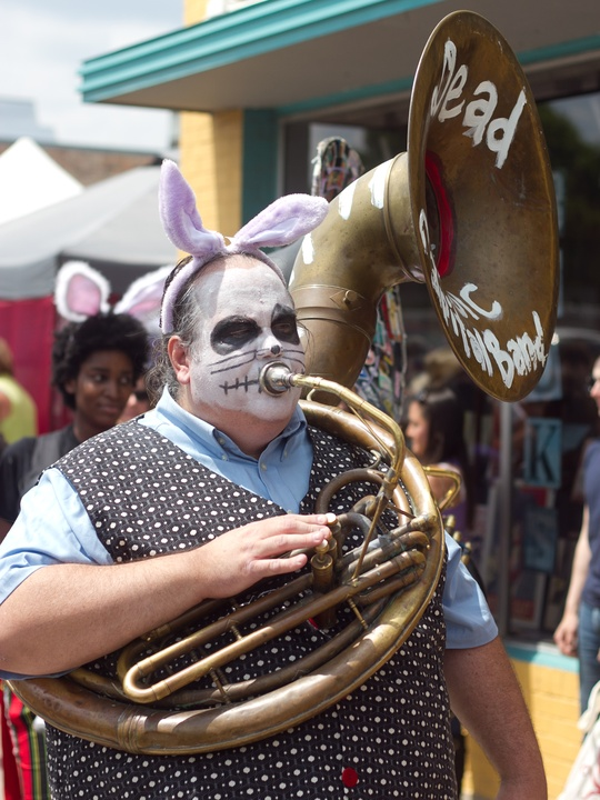 Easter Pet Parade on South Congress 2014 Dead Music Capital Band